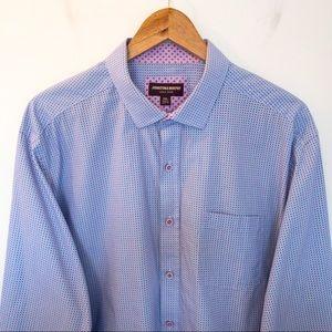 Johnston & Murphy Men Size XXL Shirt Geometric